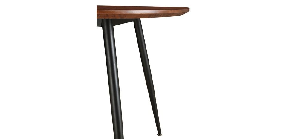table ronde oulu 100 cm bois fonc commandez nos tables. Black Bedroom Furniture Sets. Home Design Ideas