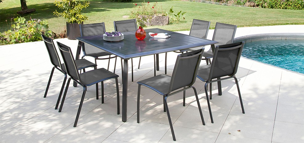 table de jardin 140 cm livourne grise achetez nos tables de jardin 140 cm livourne grise rdv d co. Black Bedroom Furniture Sets. Home Design Ideas