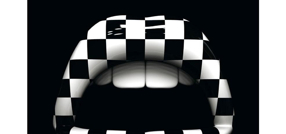 Tableau bouche damier d couvrez nos nos tableaux bouche - Tableau design noir et blanc ...