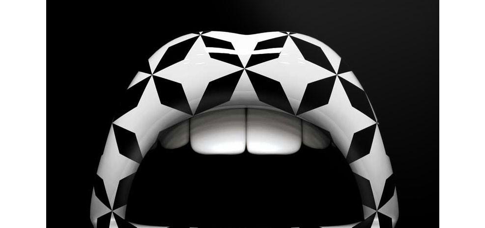tableau bouche 3d 50x50cm gomtric disponibilit puis tableau noir blanc geometrique petit