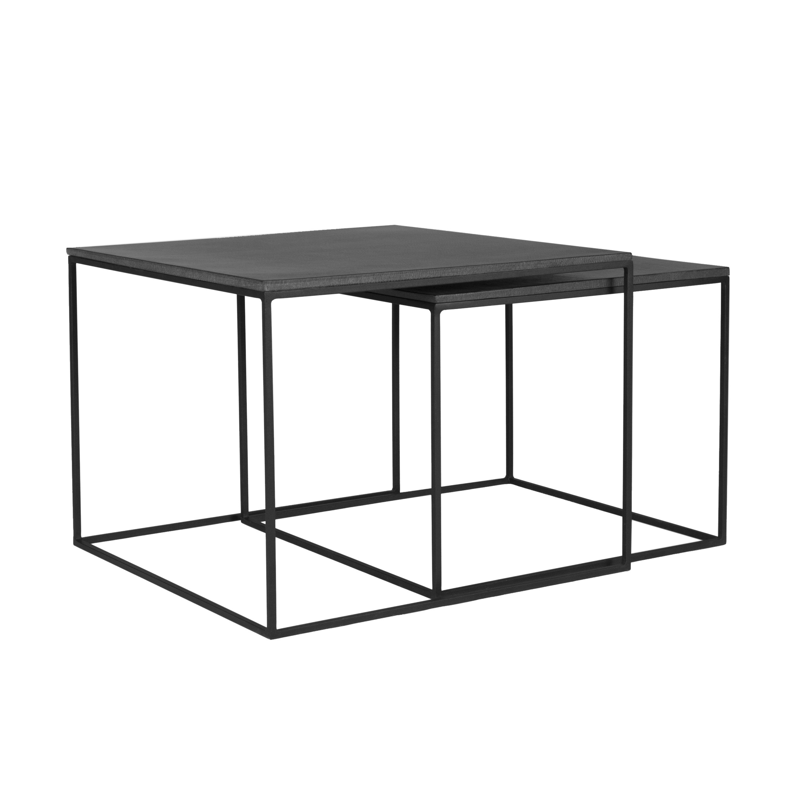 table basse gigogne carr e nevados lavastone lot de 2 achetez les tables basses gigognes. Black Bedroom Furniture Sets. Home Design Ideas