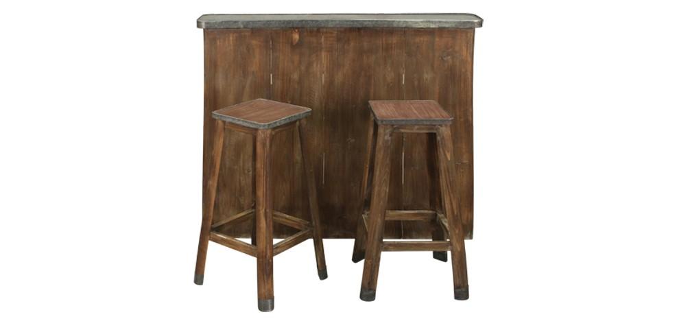 tabouret de bar bois metal excellent tabouret cuisine bois cool tabouret de bar industriel la. Black Bedroom Furniture Sets. Home Design Ideas