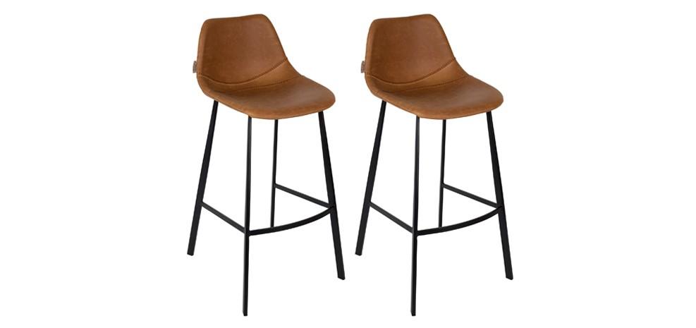 tabouret de bar franky marron d couvrez nos tabourets de bar franky marron design rdv d co. Black Bedroom Furniture Sets. Home Design Ideas
