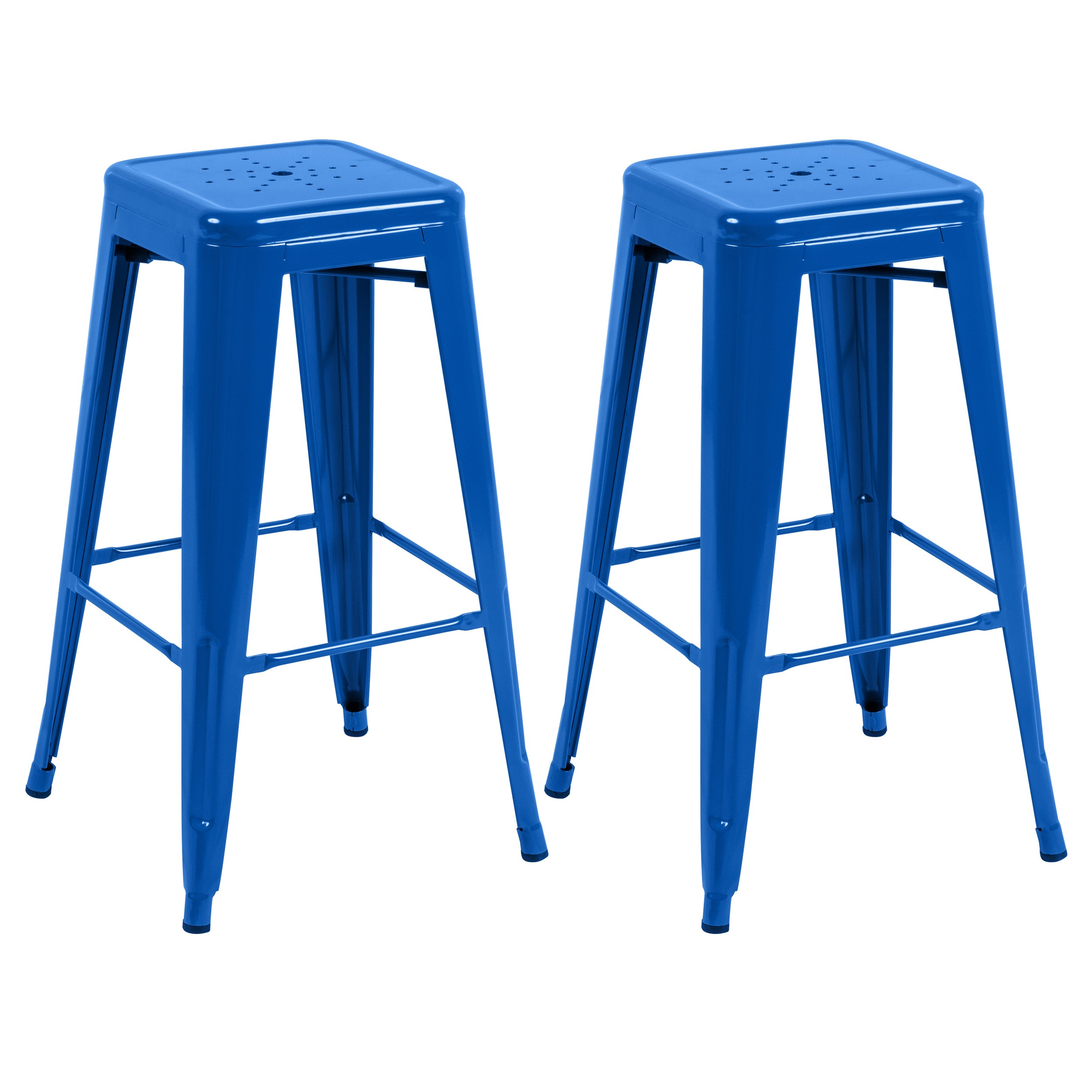 tabouret de bar indus bleu lot de 2 retrouvez nos. Black Bedroom Furniture Sets. Home Design Ideas