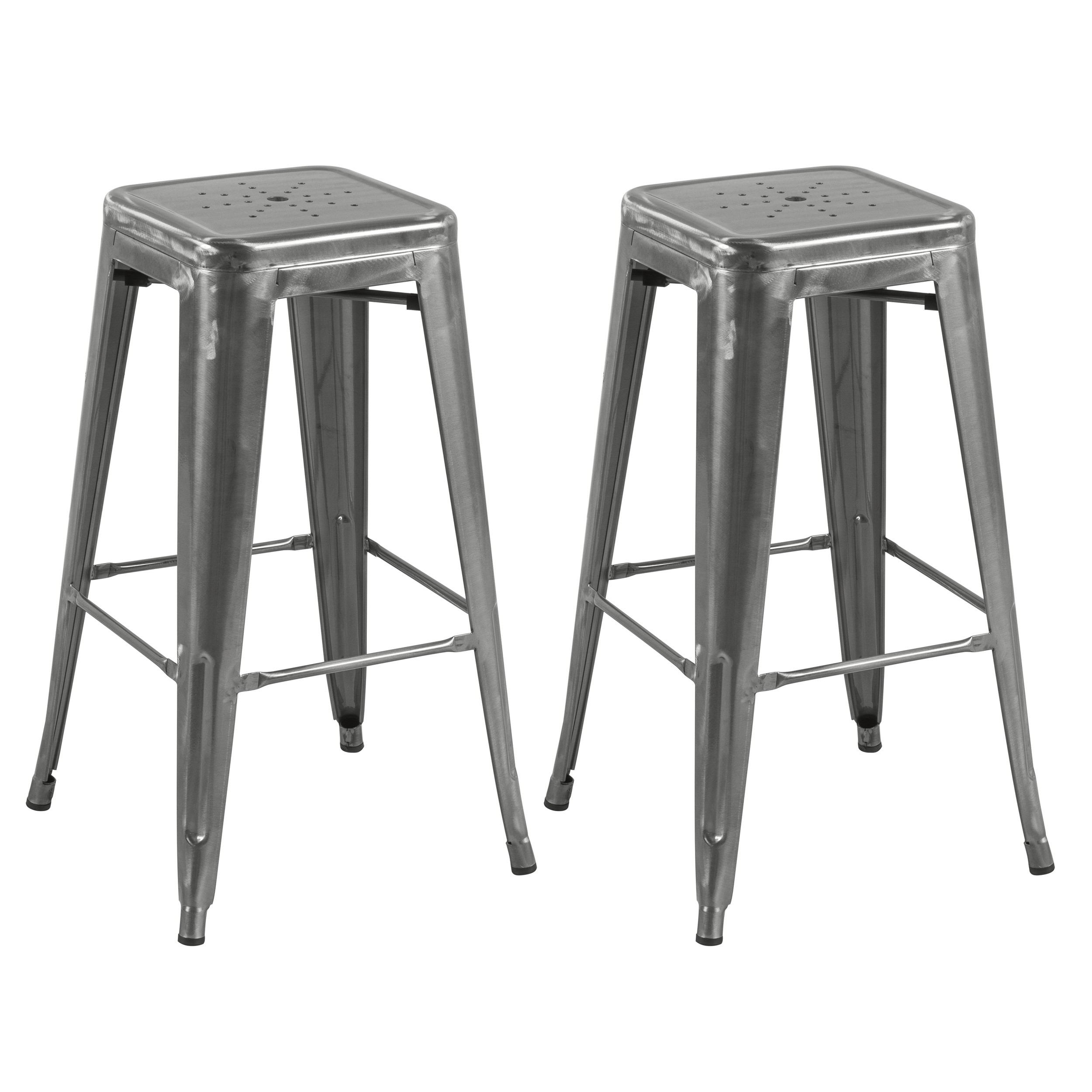 tabouret de bar indus chrome lot de 2 commandez les tabourets de bar indus chrome rdv d co. Black Bedroom Furniture Sets. Home Design Ideas
