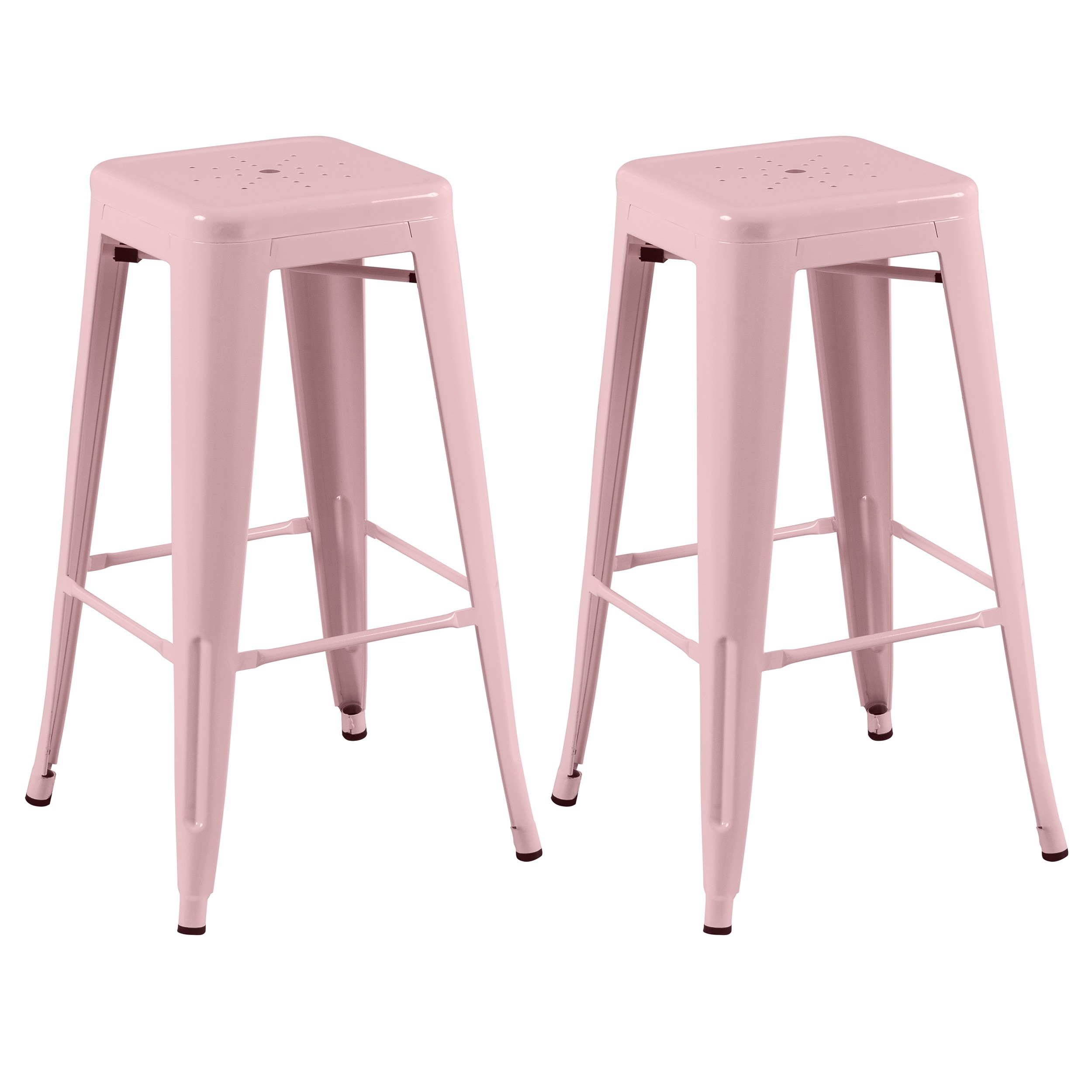 tabouret de bar indus rose lot de 2 craquez pour nos tabourets de bar indus roses rdv d co. Black Bedroom Furniture Sets. Home Design Ideas