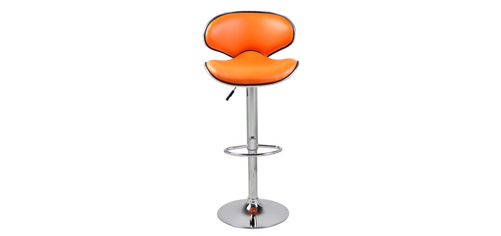 tabouret de bar folk orange lot de 2 commandez nos. Black Bedroom Furniture Sets. Home Design Ideas