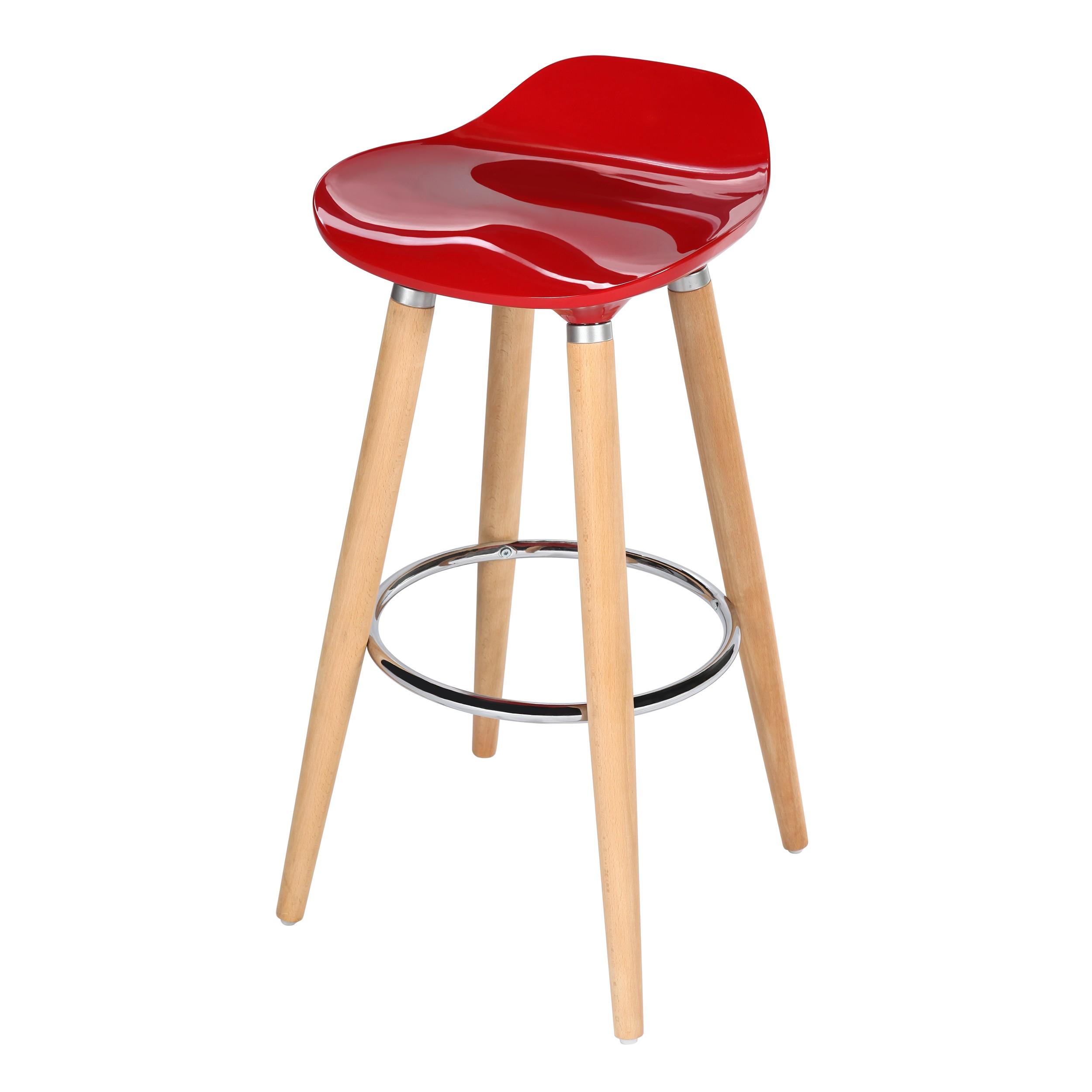 tabouret de bar italien rouge achetez nos tabourets de bar italiens rouges rdv d co. Black Bedroom Furniture Sets. Home Design Ideas