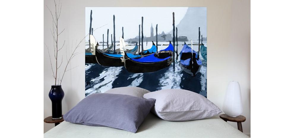 t te de lit gondoles venise bleue adoptez nos t tes de. Black Bedroom Furniture Sets. Home Design Ideas