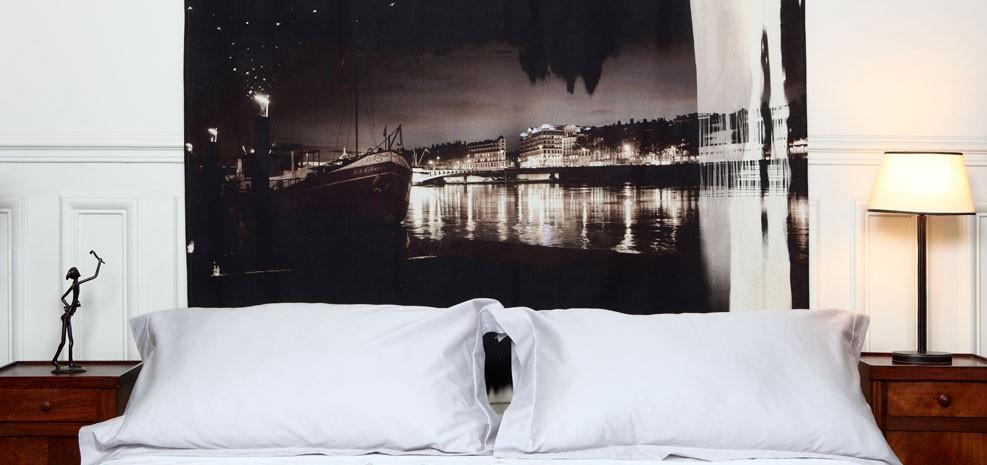 Tete de lit peniche lit 2 personnes - Soldes tete de lit ...