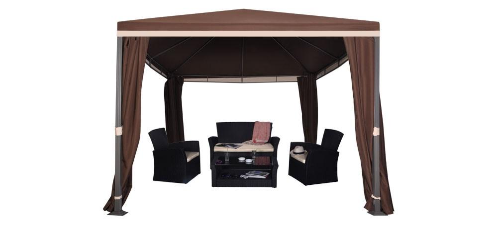 tonnelle marron optez pour une tonnelle atypique prix mini rdvd co. Black Bedroom Furniture Sets. Home Design Ideas