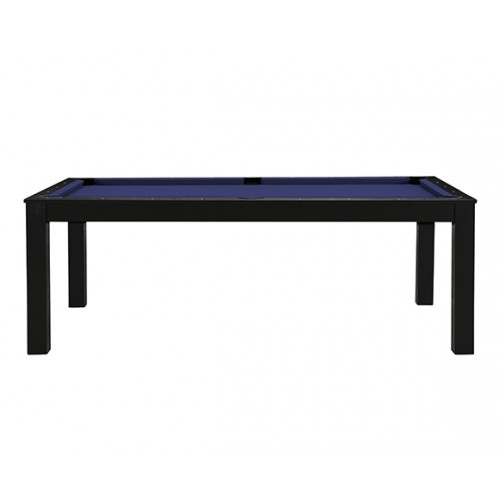 Billard-table convertible noir tapis bleu