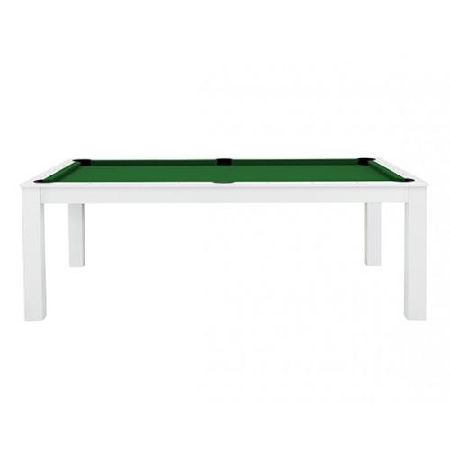 Billard-table convertible blanc tapis vert