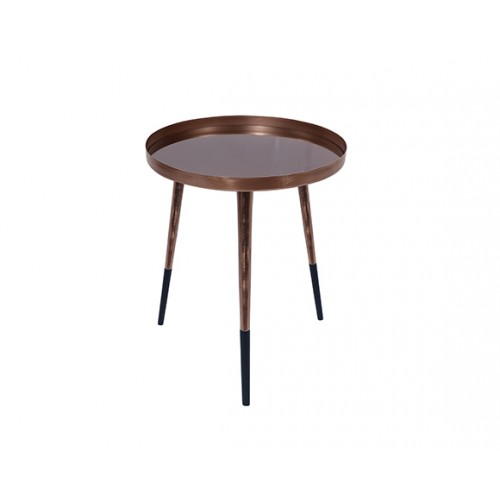 Table basse ronde Almalu cuivre