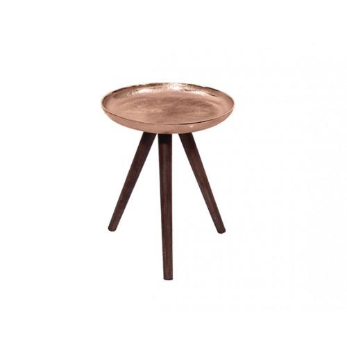 Table basse ronde Toluk cuivre