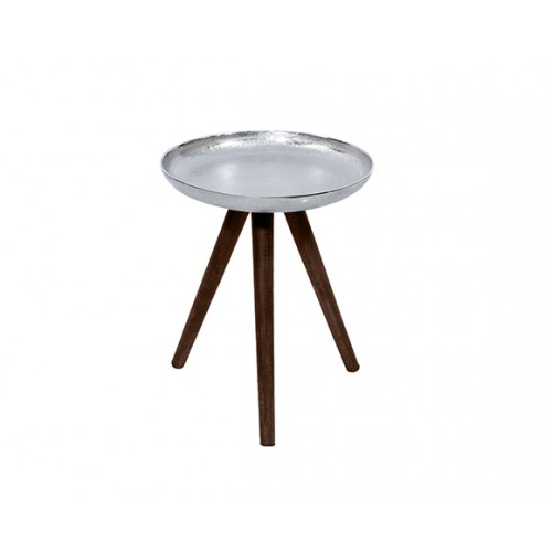 Table basse ronde Toluk chrome