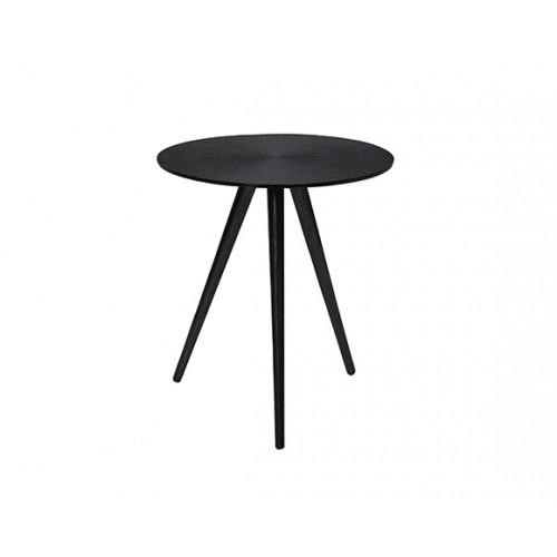 Table basse ronde Rivak noire
