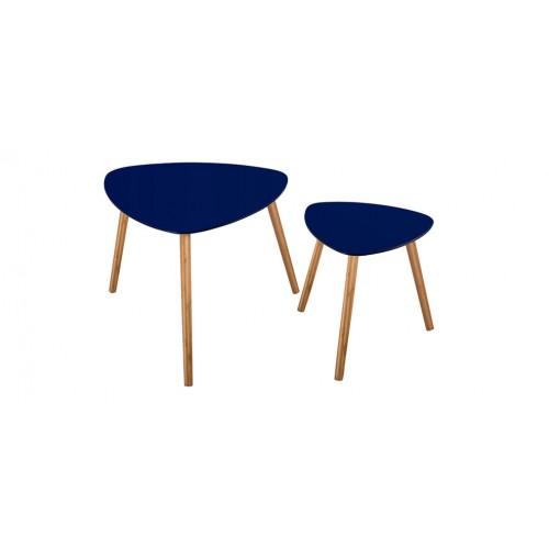 table basse scandinave bleu foncé (lot de 2) : achetez nos tables