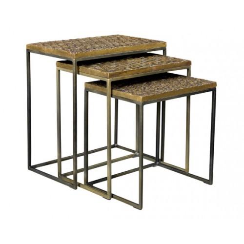Tables basses gigognes carrées Akshaya (lot de 3)
