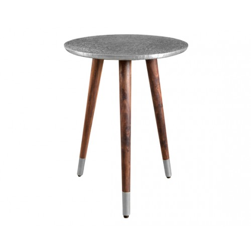 Table basse  ronde Sahru chrome