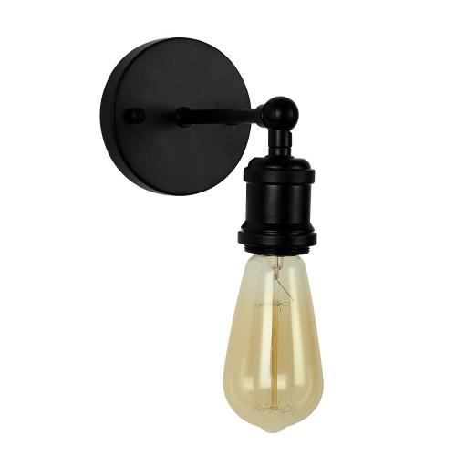Applique Ezys noire (ampoule incluse)