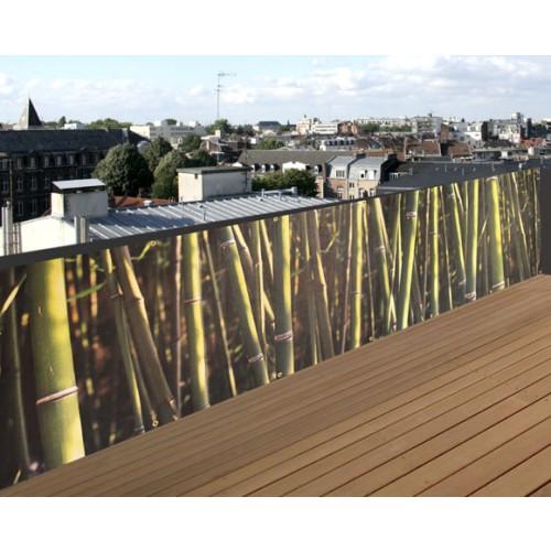 achat brise vue motif bambou