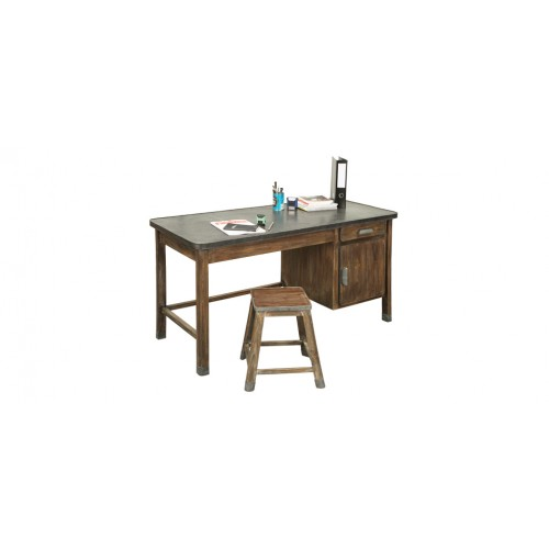 achat bureau metal bois