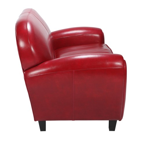 achat canapé club rouge 2 places