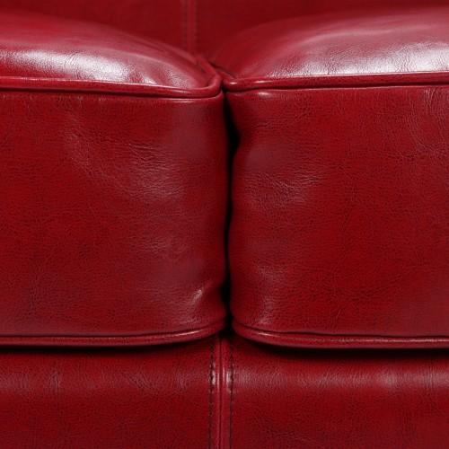 achat canapé cuir rouge 2 places