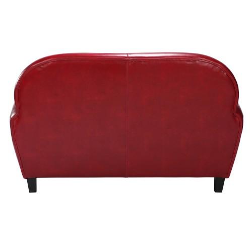 achat canapé design club cuir rouge