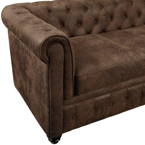 achat canapé design marron