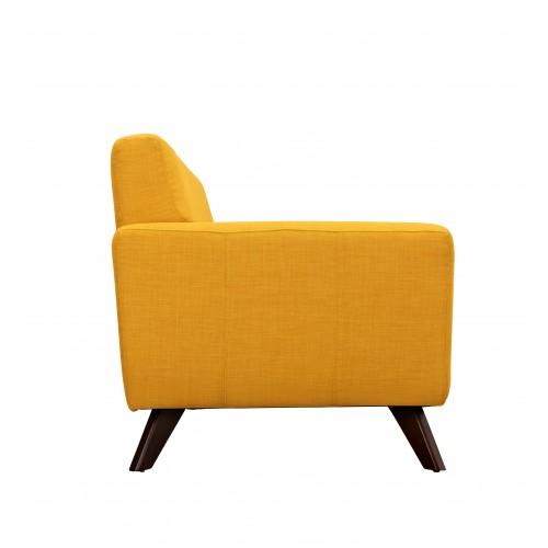 achat canape design jaune tissu