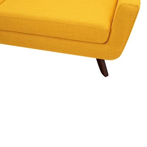 achat canape jaune tissu