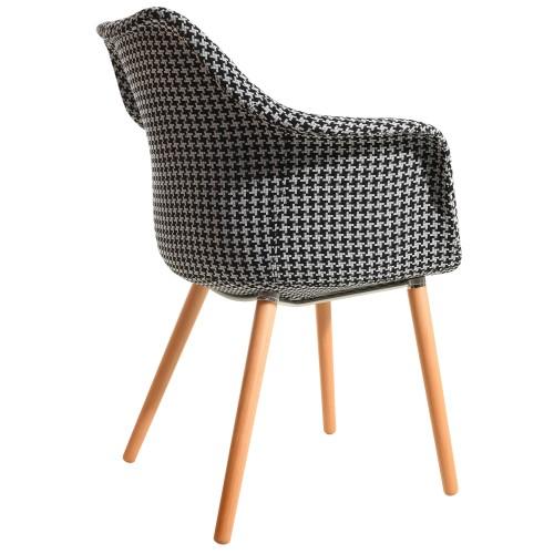 achat chaise confortable motifs pied de poule