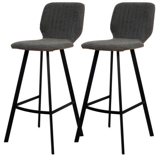 achat chaise de bar vintage gris fonce