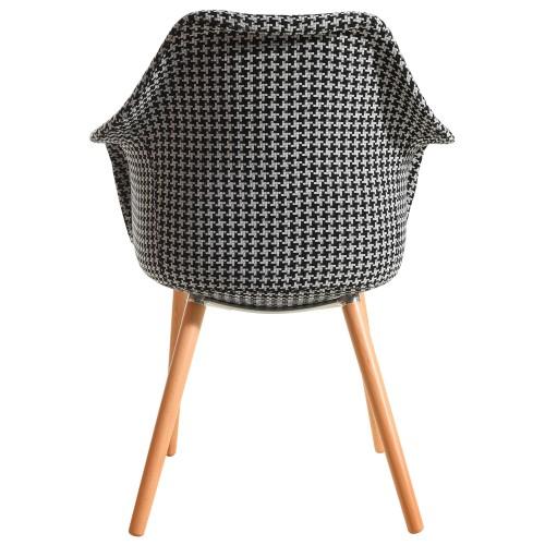 achat chaise design motif tissu