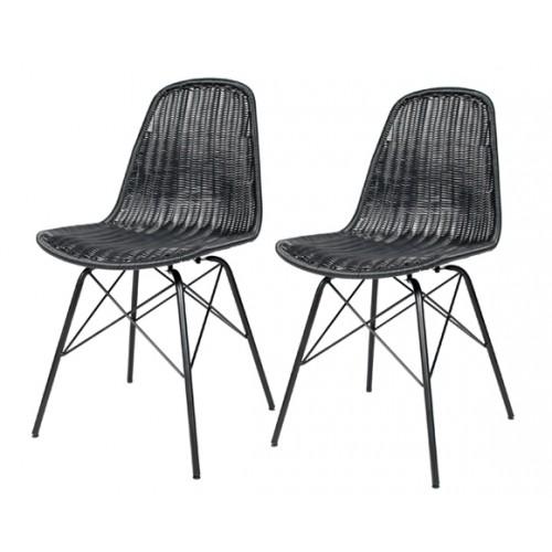 achat chaise en resine tressee lot de 2