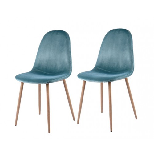 achat chaise en velours verte lot de 2