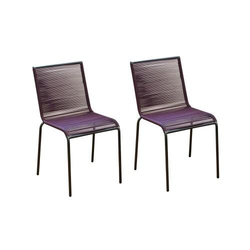achat chaise jardin cassis lot de 2