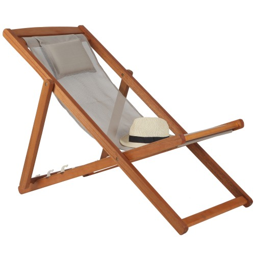 Achat Chaise Longue Pliable Taupe