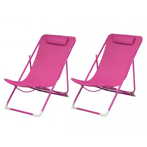 achat chaise longue rose