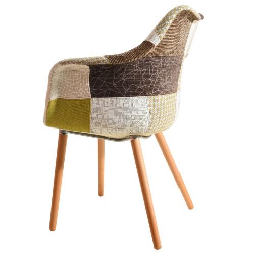achat chaise patchwork verte