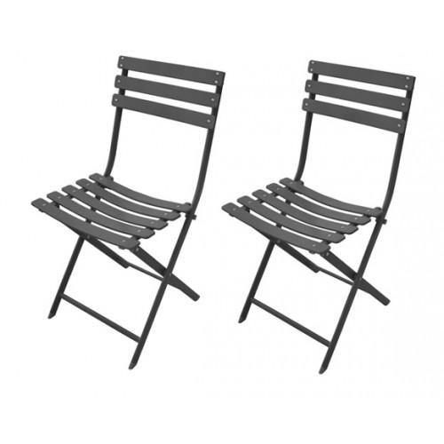 achat chaise pliable grise