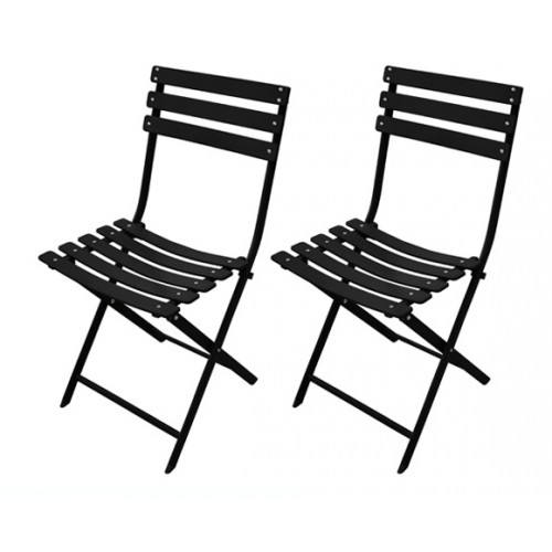 achat chaise pliable noire