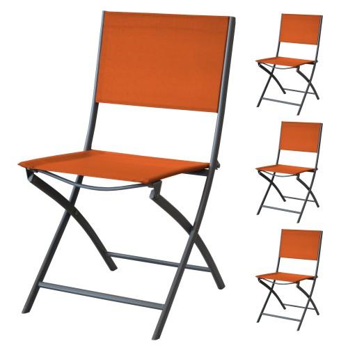 achat chaise pliable orange 4