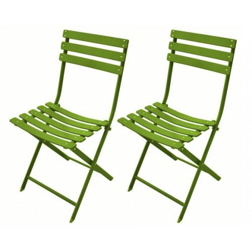 achat chaise pliable verte