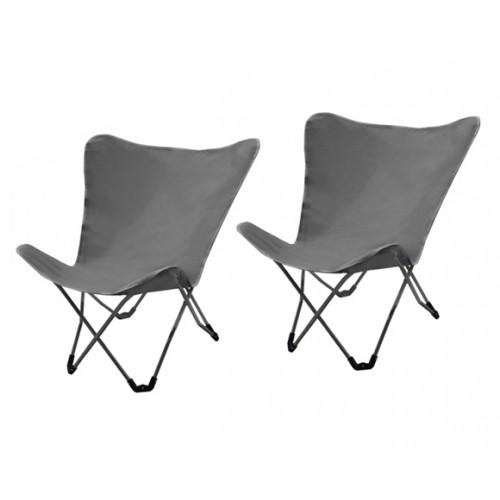 achat chaise pliante grise