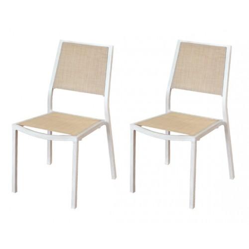 achat chaise salon de jardin par 2