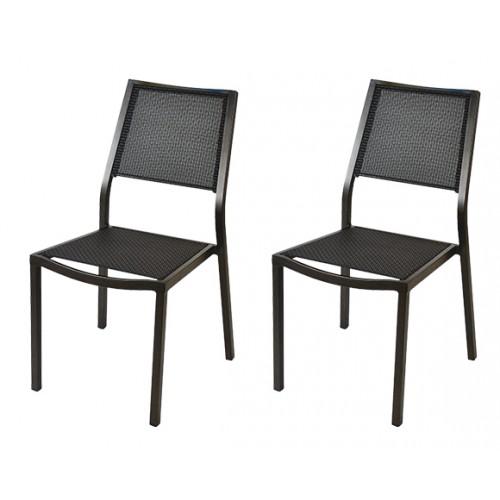 achat chaise taupe pour le jardin par 2