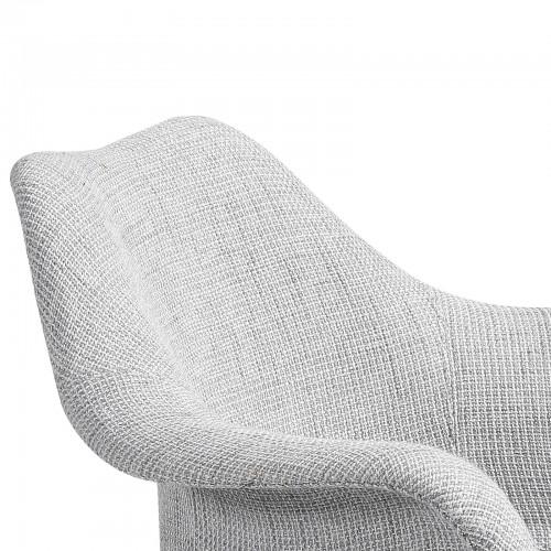 achat chaise tissu gris
